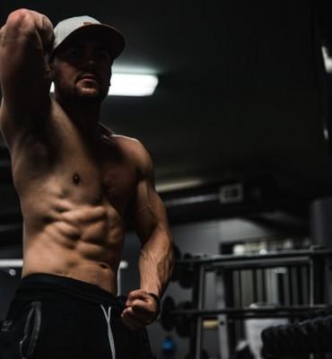 man in gym photo