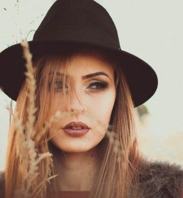 woman wearing nude lipstick