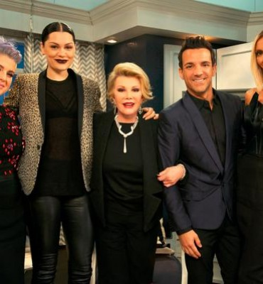 Joan Rivers and the 'Fashion Police' cast