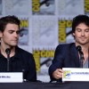 Paul Wesley (L) who plays Stefan and Ian Somerhalder (Damon) from The Vampire Diaries' attend Comic-Con International 2016 in San Diego, California.