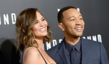 Chrisy Teigan and husband John Legend attend the  WGN America's 'Underground' Season Two Premiere Screening on March 1, 2017 in Westwood, California.