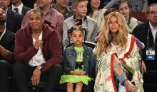 Beyoncé with husband, Jay-Z, and daughter, Blue Ivy Carter