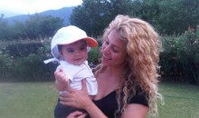 Shakira and her son Milan on Friday August 16, 2013.