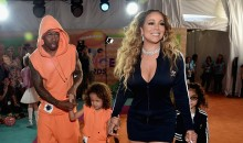 Mariah Carey, Nick Canon and twin sons Roc and Roe attend the Nickelodeon's 2017 Kids' Choice Awards at USC Galen Center on March 11, 2017 in Los Angeles, California.