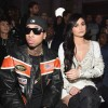 Tyga and Kylie Jenner attend the Front Row for the Philipp Plein Fall/Winter 2017/2018 Women's And Men's Fashion Show