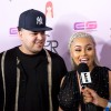 Rob Kardashian and Blac Chyna are interviewed together on May 10, 2016 during her Birthday Celebration And Unveiling Of Her 'Chymoji' Emoji Collection at the Hard Rock Cafe in Hollywood.
