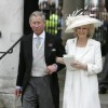 Prince Charles , the Prince of Wales, and Camilla, the Duchess of Cornwall leave the The Guildhall, Windsor after legally married on April 9, 2005.