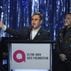 Sir Elton John with husband David Furnish on his 25th Elton John Aids Foundation Academy Awards