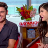Lifeguard TV® Baywatch Movie Sit Down Interviews - Zac Efron and Alexandra Daddario