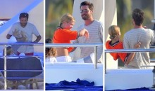 Scott Disick with Sofia Richie on a yacht