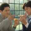 Song Joong Ki & Park Bo Gum Cute Behind the Scene for Dominos Pizza CF