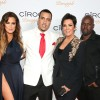 Khloe Kardashian, French Montana, Kris Jenner and Corey Gamble