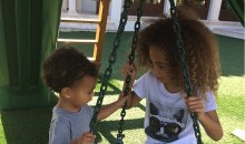 Kim Kardashian Jets to Art Basel, Shares Picture of Daughter North West Bonding with Pal Larsa Pippen's Daughter Sofia
