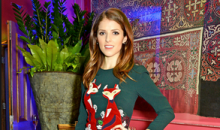 Anna Kendrick Wears the color of Christmas while Promoting Into the Woods