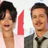 """Brad Pitt Introduces Rihanna in a Funny Way and Jokingly Calls Jay-Z """"an evil impresario known for churning out hit records"""""""