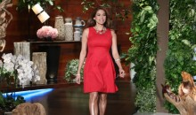 Eva Mendes shows off post-baby figure on The Ellen DeGeneres Show, tells why she and boyfriend Ryan Gosling kept mum about the pregnancy