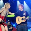 Taylor Swift & Ed Sheeran onstage during RED Tour