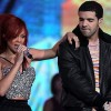 Rihanna and Drake performing on stage