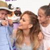 Jennifer Lopez's Twins Max and Emme Seen During 'Home' Premiere