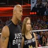 Dwayne 'The Rock' Johnson stepped into the ring and interrupted the two
